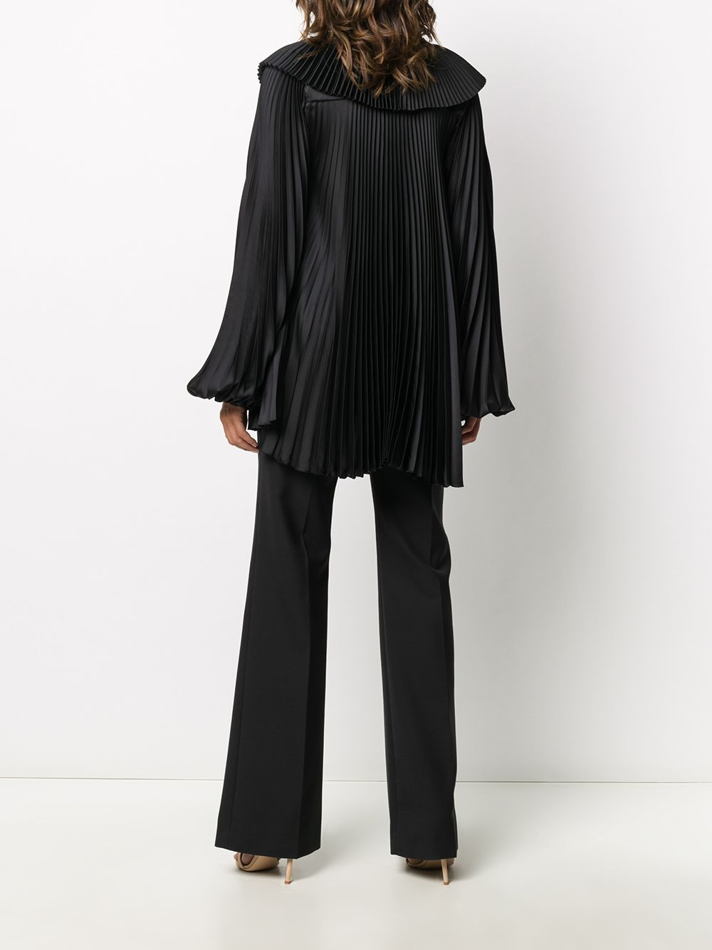 black oversized pleated blouse featuring fully pleated BROGNANO |  | 29BR1M09-20476499