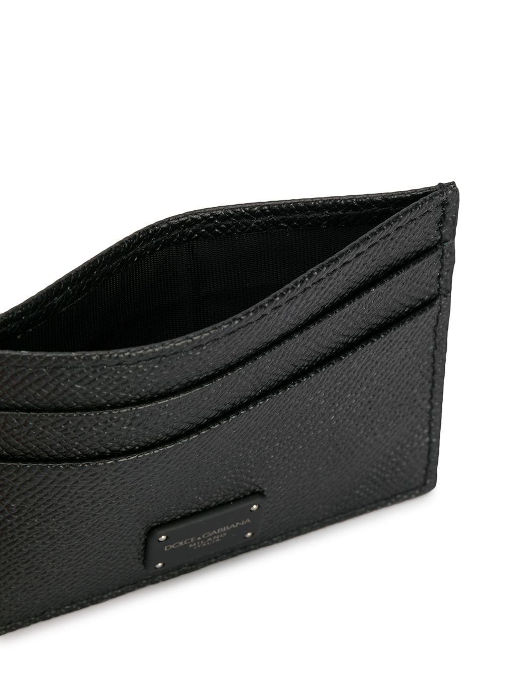 black saffiano leather cardholder with front logo patch DOLCE & GABBANA |  | BP0330-AZ60280999