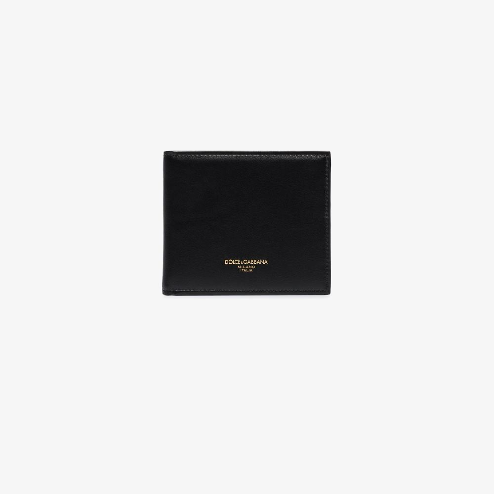 black bi-fold calf-leather wallet with gold logo details DOLCE & GABBANA |  | BP1321-AZ60780999