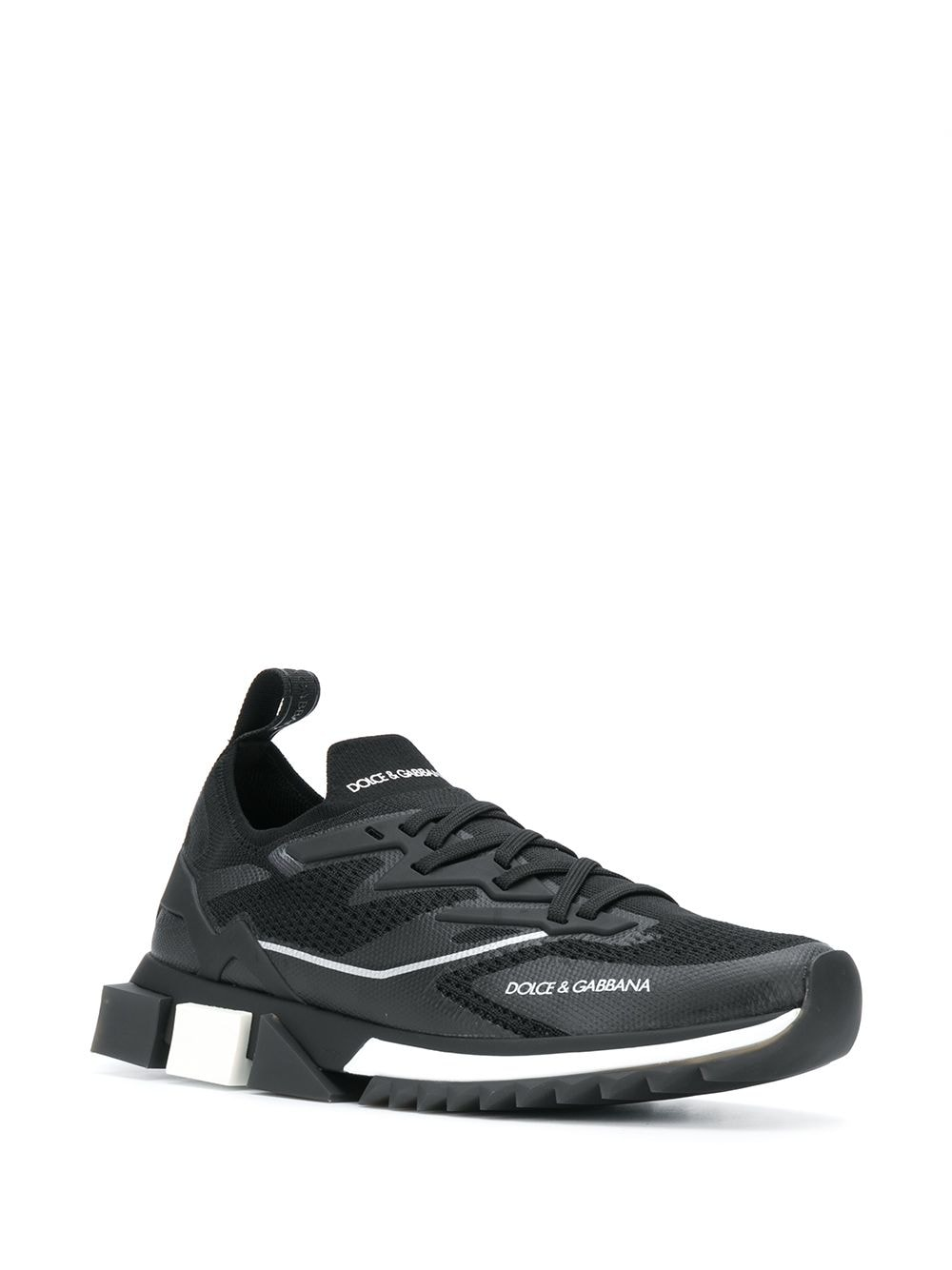 Black and white Sorrento low-top sneakers  DOLCE & GABBANA      CS1822-AW47689690