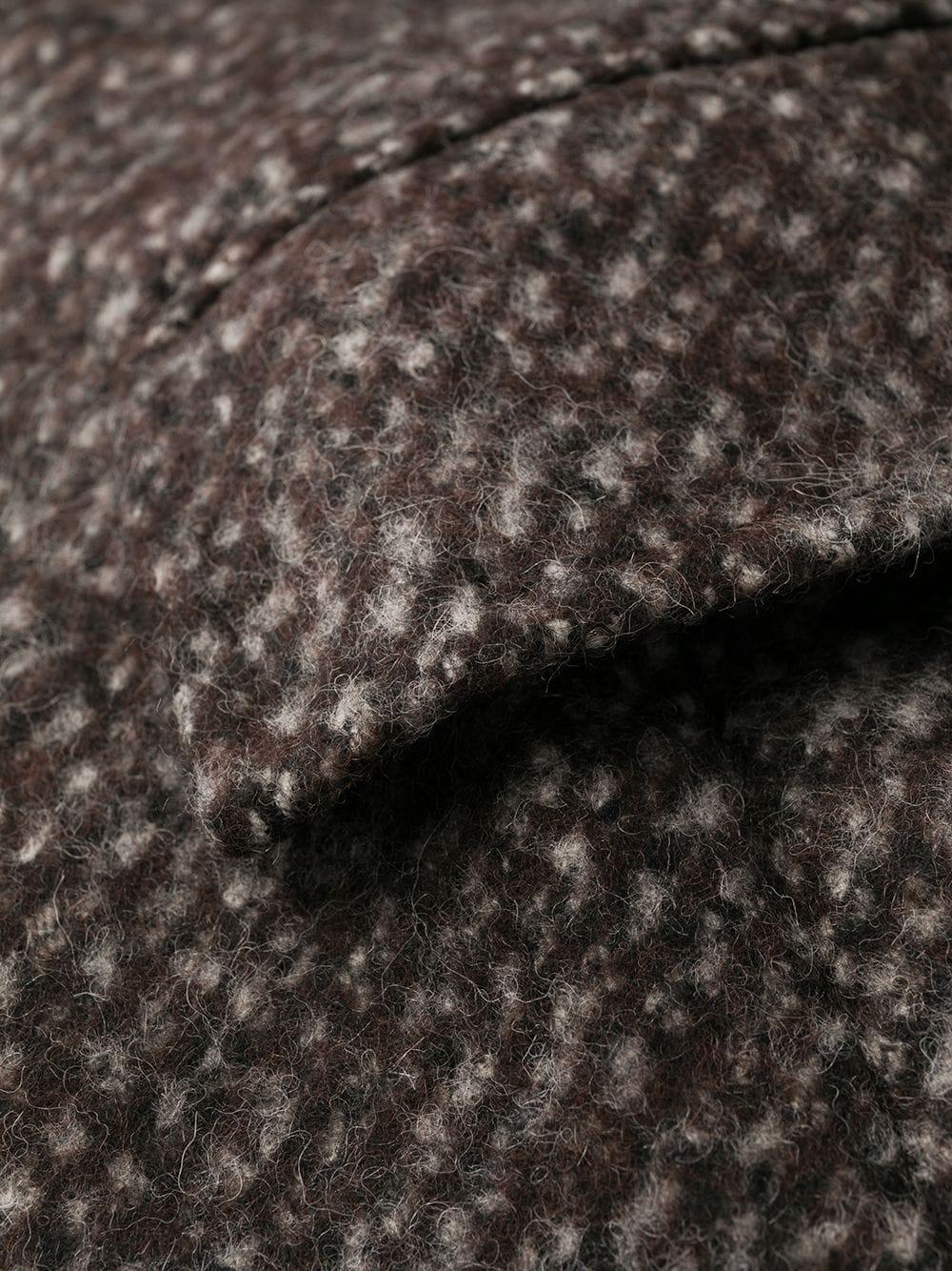 brown wool mid lenght coat with leopard internal lining DOLCE & GABBANA      F0Y52T-FMMFVS8031