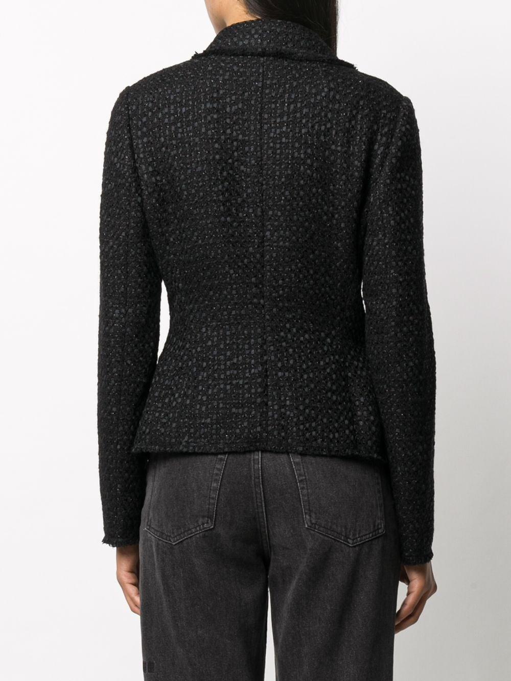 black cotton tweed jacket DOLCE & GABBANA      F26AOT-HUMJZN0000