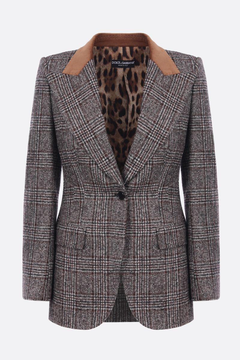 giacca lana poliestere galles 1 bottone rever lancia+velluto DOLCE & GABBANA   Giacche   F29GZT-FQMIBS8100