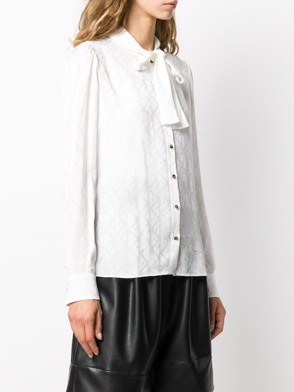 white silk blouse with pussy bow neck DOLCE & GABBANA |  | F5I11T-FJ1IBW0001