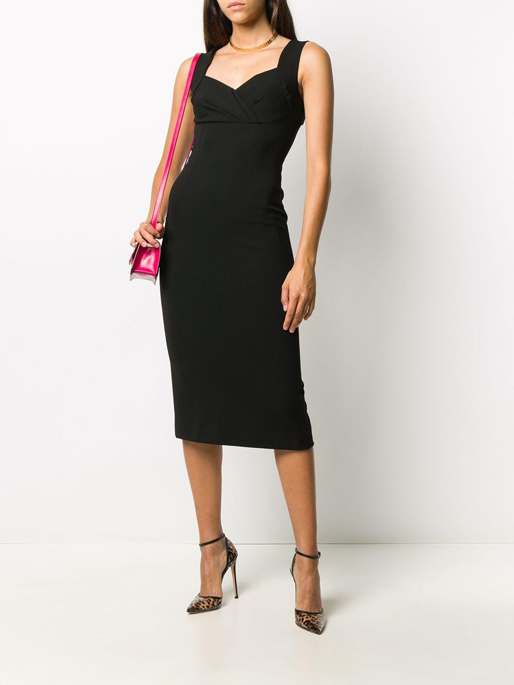 black viscose sleveless midi dress DOLCE & GABBANA |  | F6J4QT-FUGKFN0000