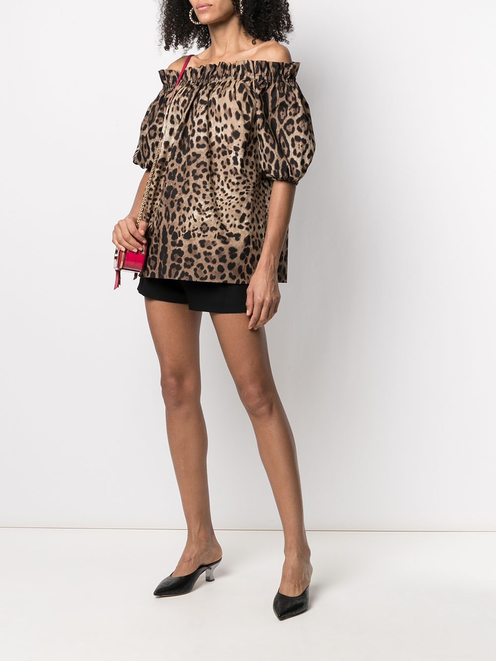 Leopard-print cotton blouse with balloon sleeves DOLCE & GABBANA |  | F71J7T-HS5E3HY13M