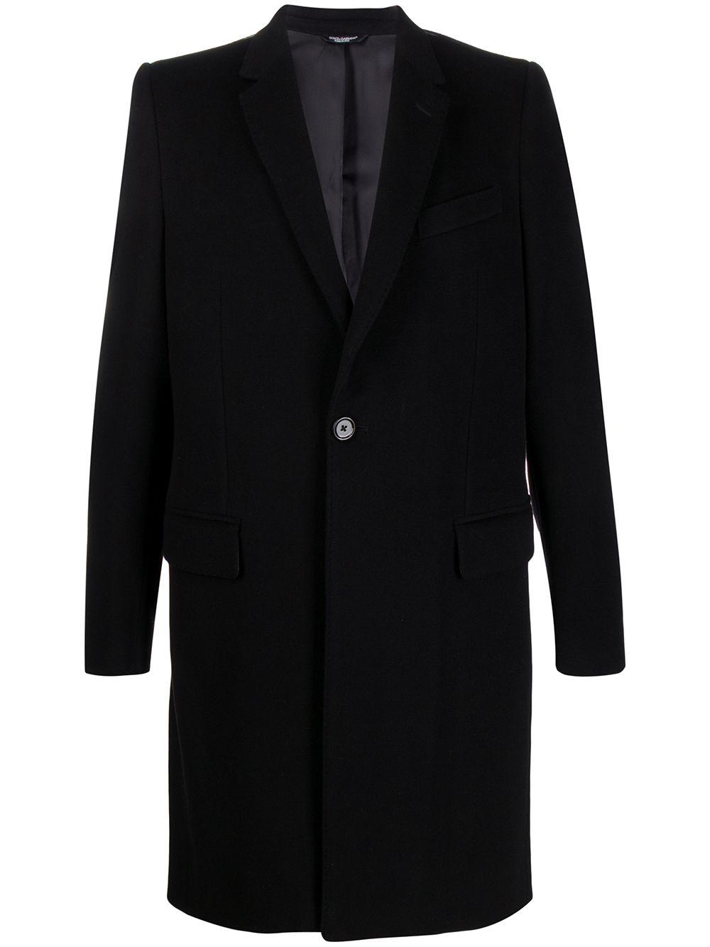 cappotto sartoriale monopetto in misto lana e cashmere nero DOLCE & GABBANA | Cappotti | G007ST-FU2Z0N0000