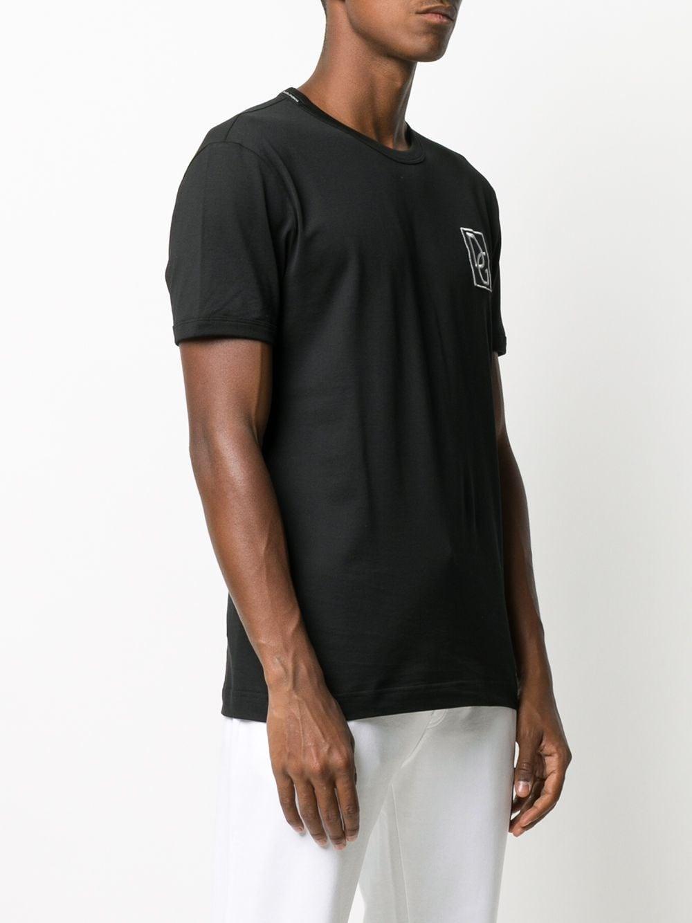 jersey cotton black t.shirt with front D&G logo DOLCE & GABBANA |  | G8JX7Z-G7XEPN0000