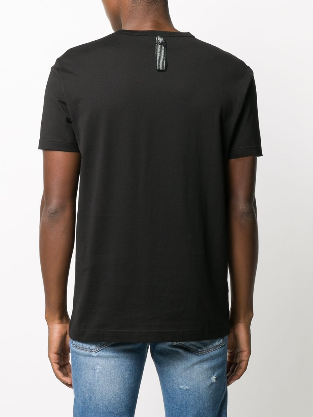 black cotton slim-fit sweatshirt with front multilogo print DOLCE & GABBANA      G8MD6Z-FI73WHN2GR