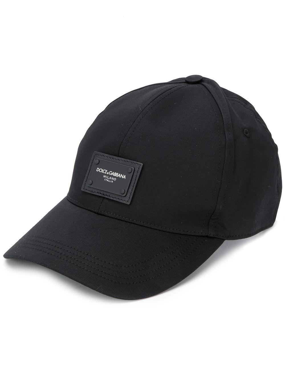 cappello da baseball in cotone nero con logo frontale DOLCE & GABBANA | Cappelli | GH590A-FUFJRN0000