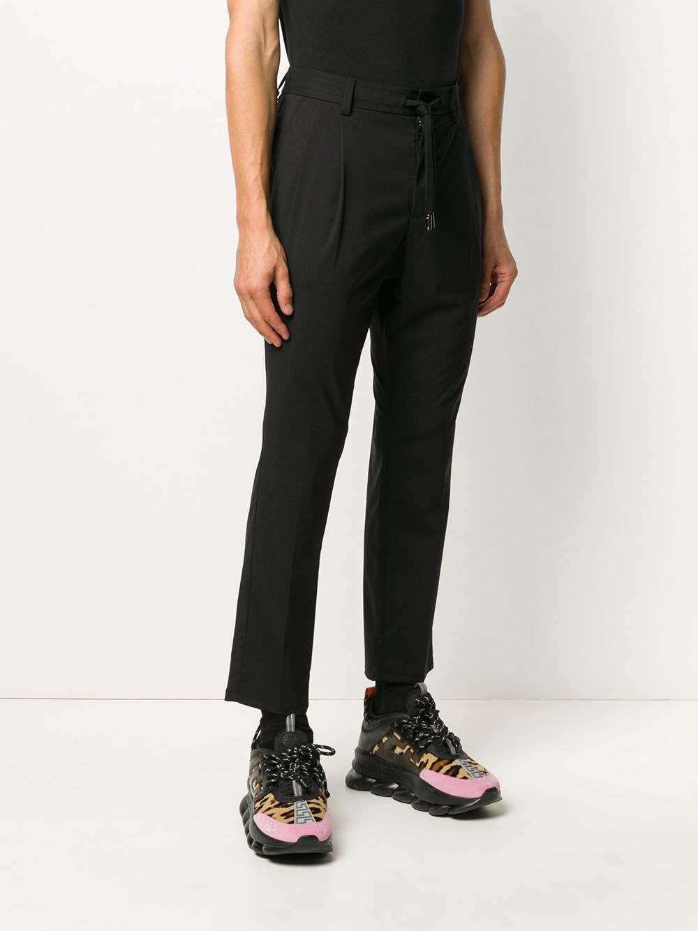 black virgin wool cropped tailored trousers DOLCE & GABBANA |  | GW08AT-FUBECN0000