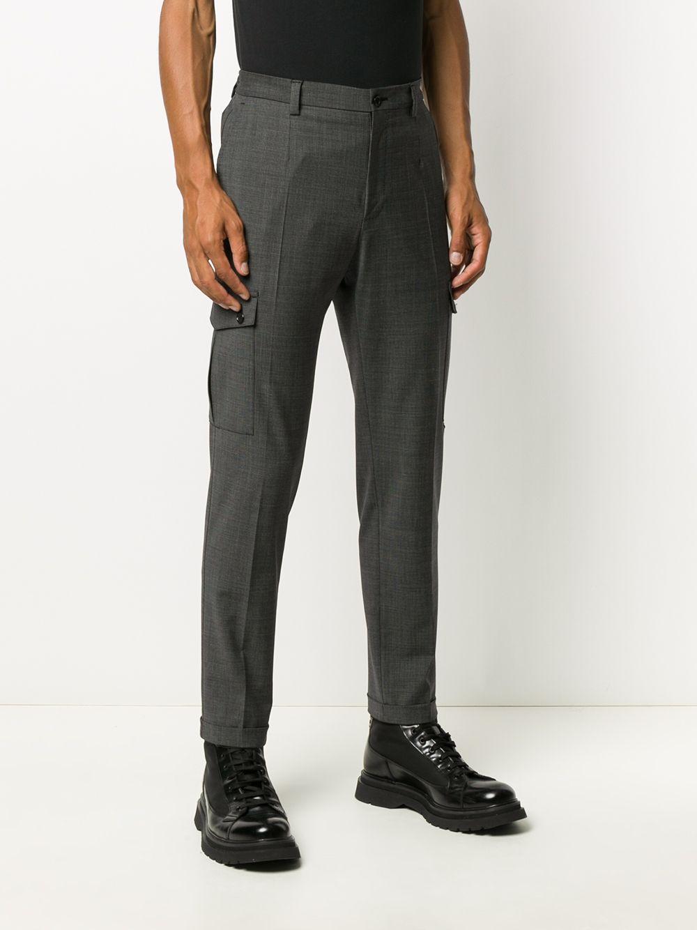 pantalone cargo grigio in misto lana DOLCE & GABBANA   Pantaloni   GWQ1ET-FMRA4S8030