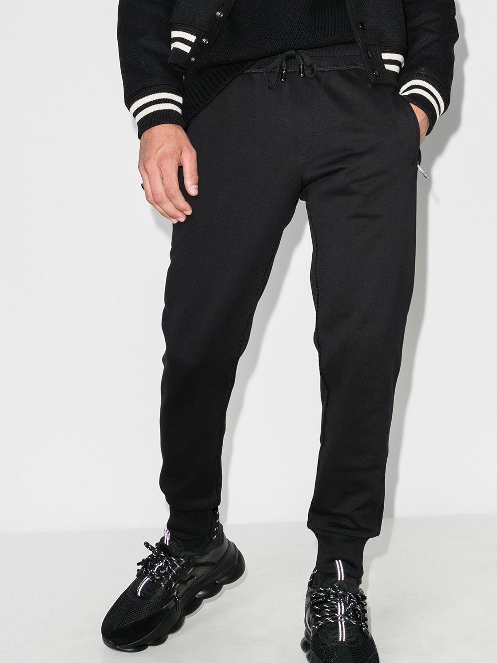 black cotton slim-fit track pants with back Dolce & Gabbana logo DOLCE & GABBANA |  | GYWDAT-FU7DUN0000