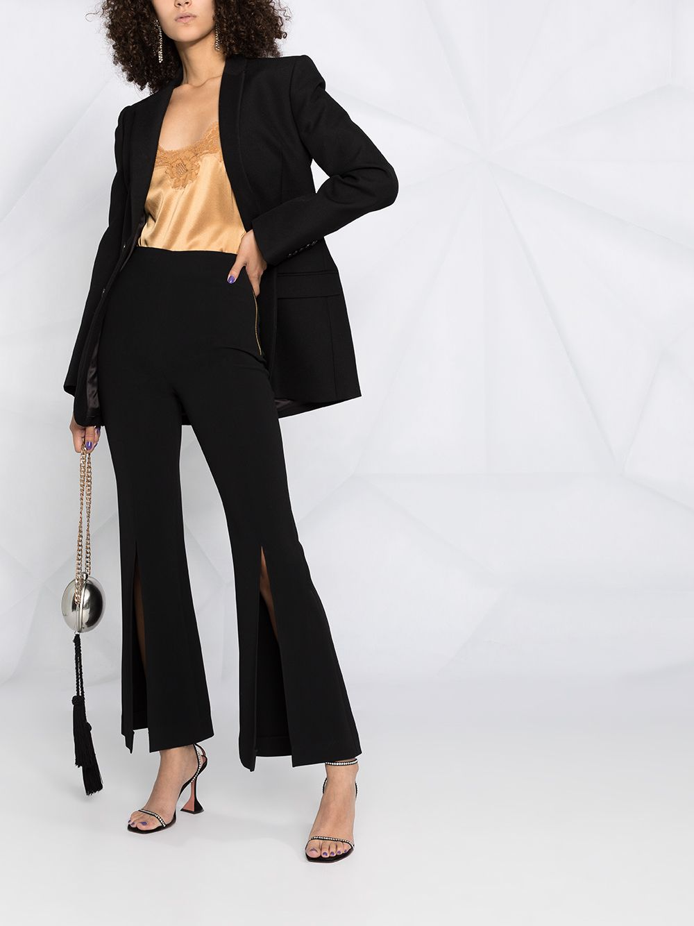 Gold-tone silk-blend lace-trim camisole top  DOLCE & GABBANA |  | O7B09T-FUAD8M0887
