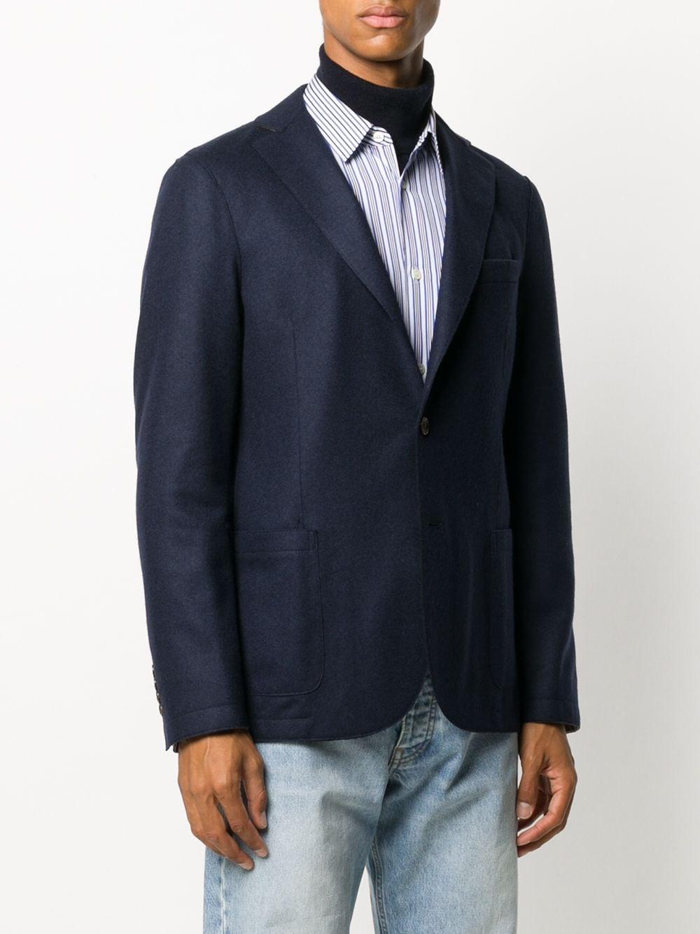 blue  fitted wool blazer ELEVENTY      B70GIAA01-JAC2401811