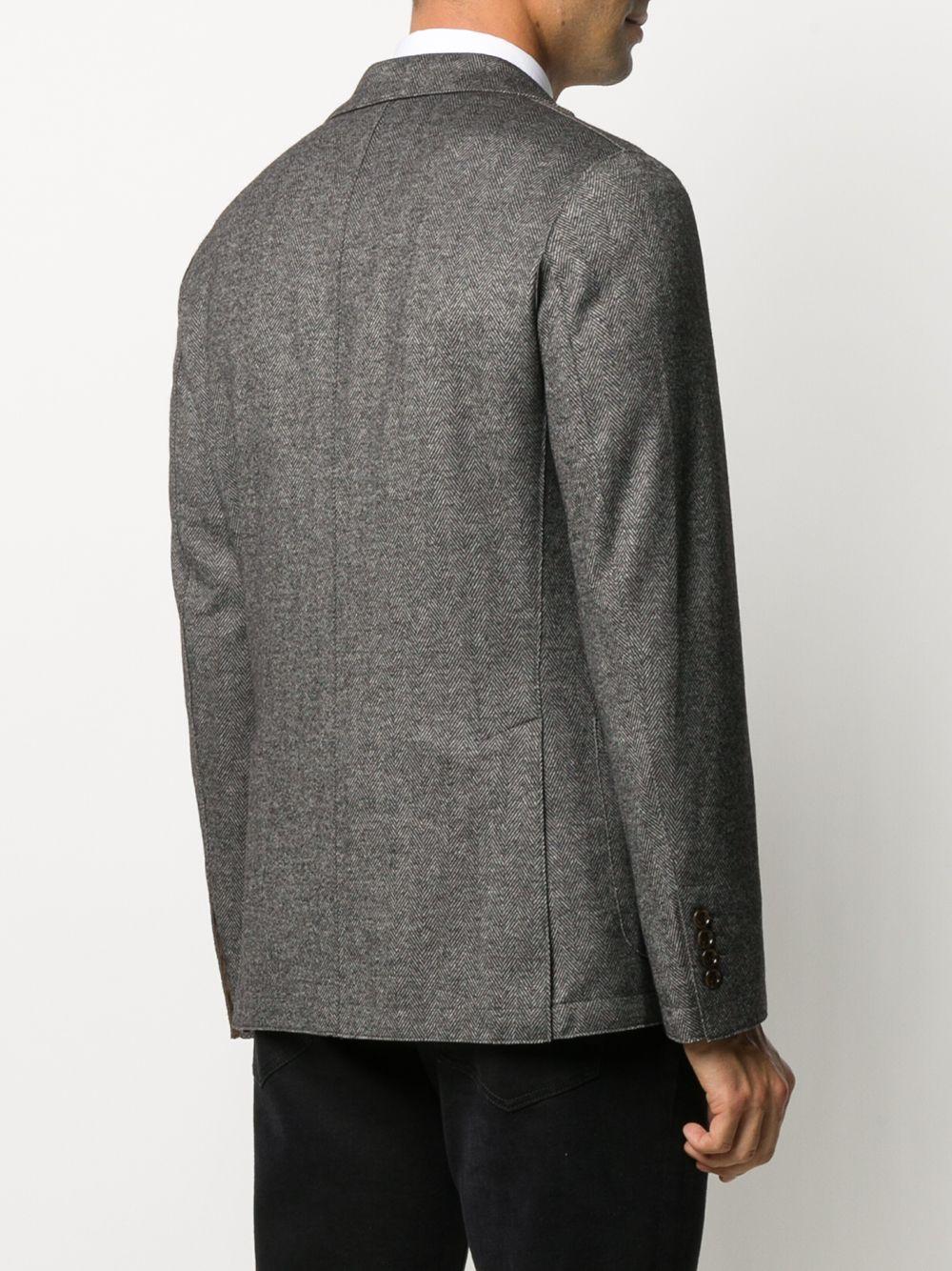 Blazer grigio in misto lana con motivo a spina di pesce ELEVENTY | Giacche | B70GIAA01-TES0B11510
