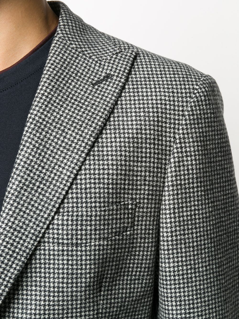 giacca monopetto grigia a quadri in lana ELEVENTY   Giacche   B70GIAA05-TES0B03315