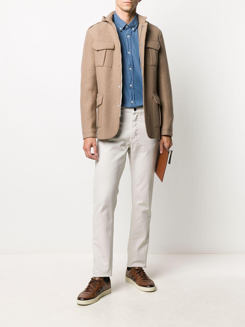 Camel brown virgin wool military jacket  ELEVENTY |  | B70GIAB02-CAS2400404