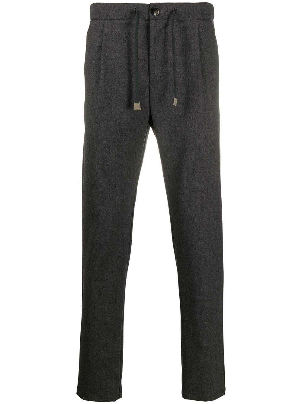 Pantaloni sartoriali grigi in misto lana con coulisse ELEVENTY | Pantaloni | B70PANB01-TES0B10414