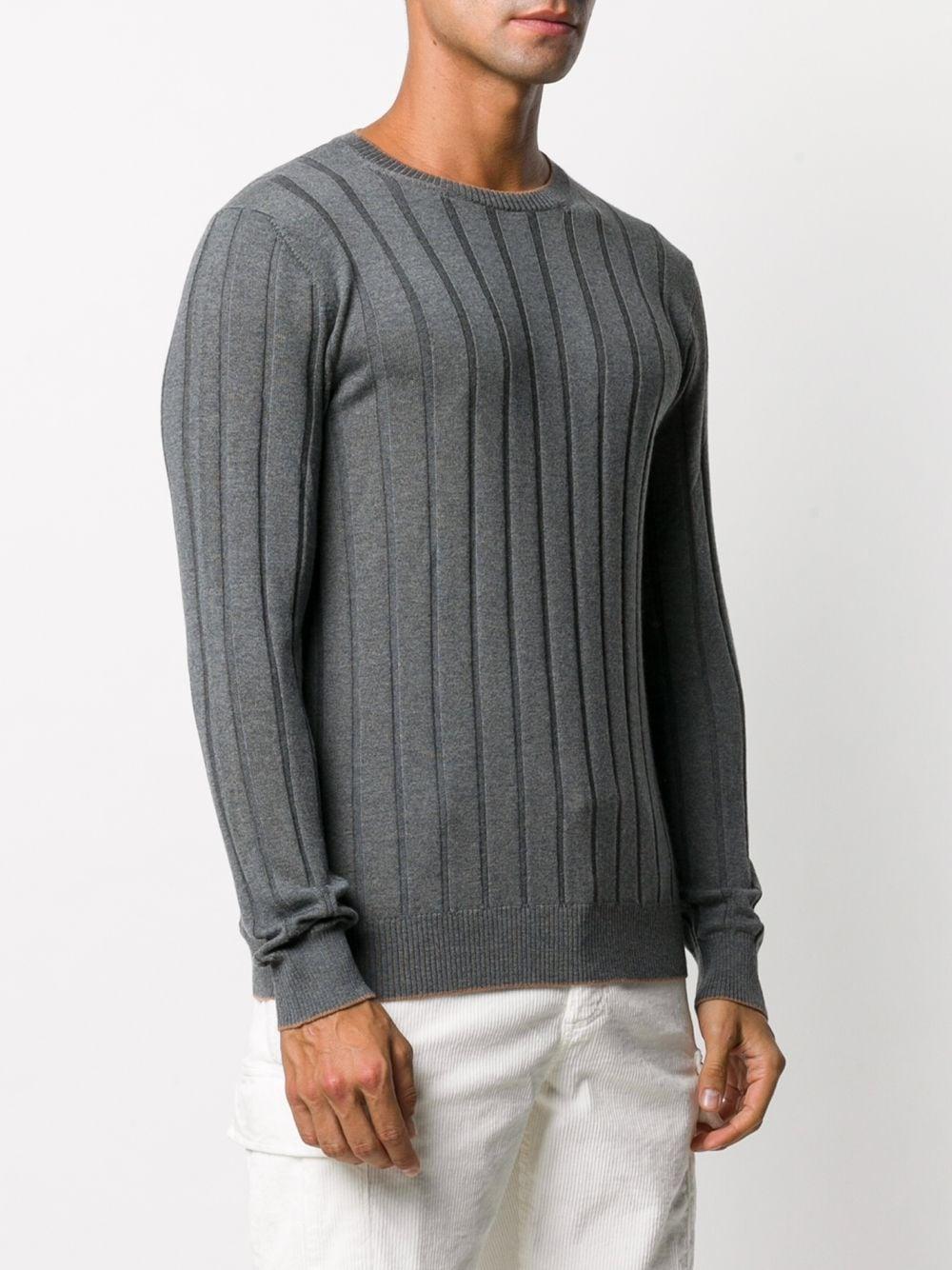 Medium grey wool fine-knit ribbed wool jumper   ELEVENTY      B71MAGB20-MAG0B04315-04A