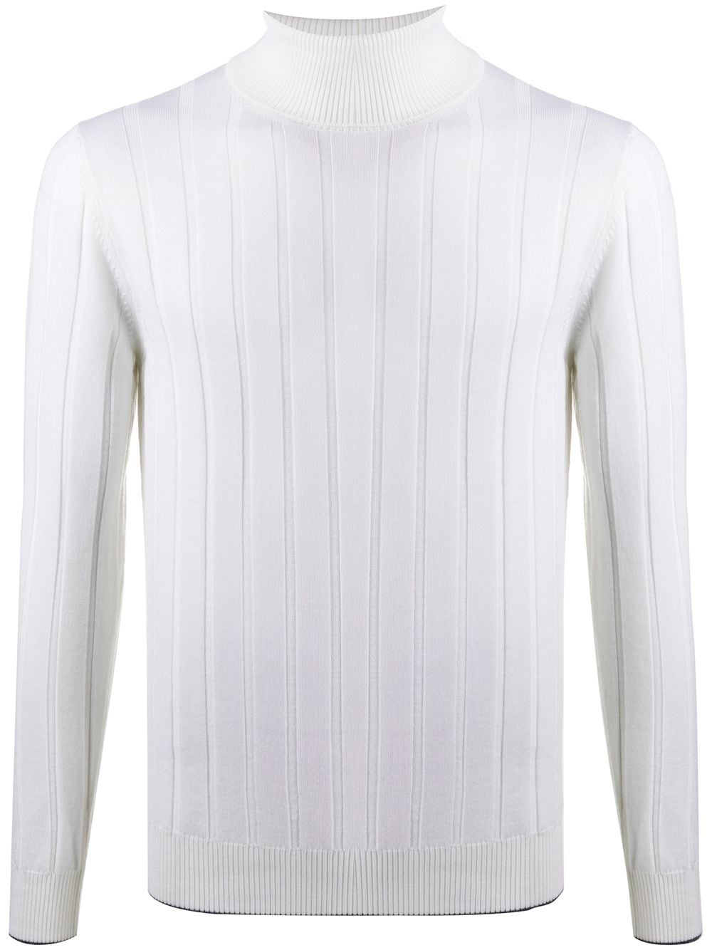 Ivory wool ribbed-knit roll neck jumper  ELEVENTY |  | B71MAGB21-MAG0B04300-15