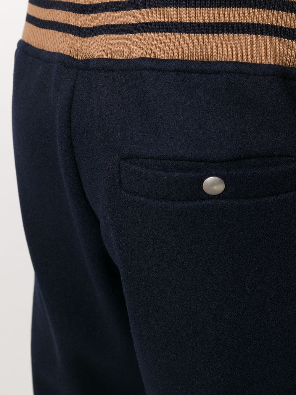 Dark blue wool-blend track trousers featuring knitted construction ELEVENTY |  | B71PANB02-TES0B19711