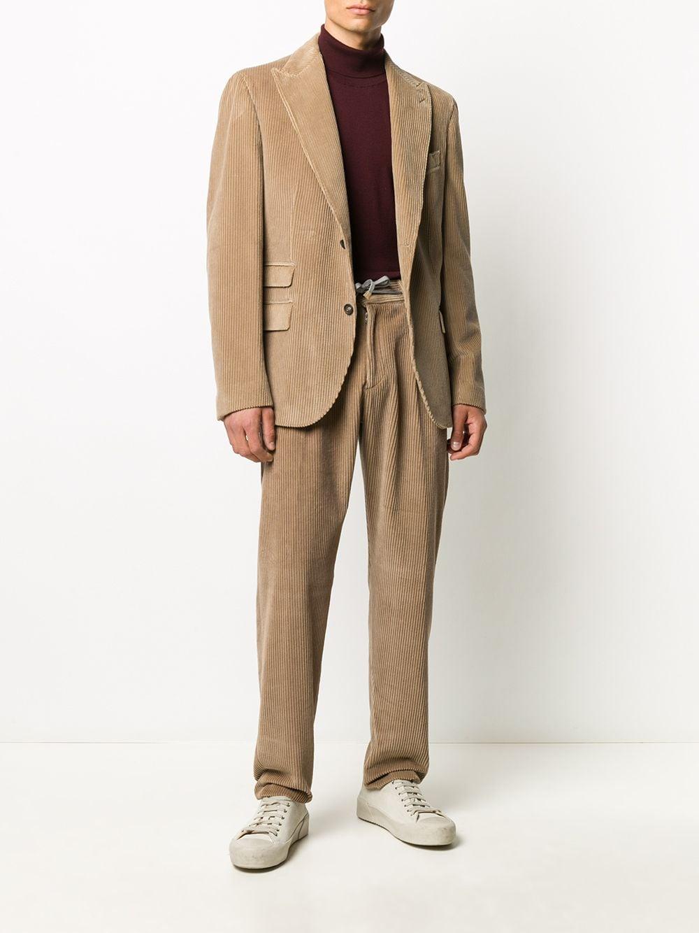 Beige cotton-blend corduroy two-piece suit  ELEVENTY |  | B75ABUA01-CAS2601304N