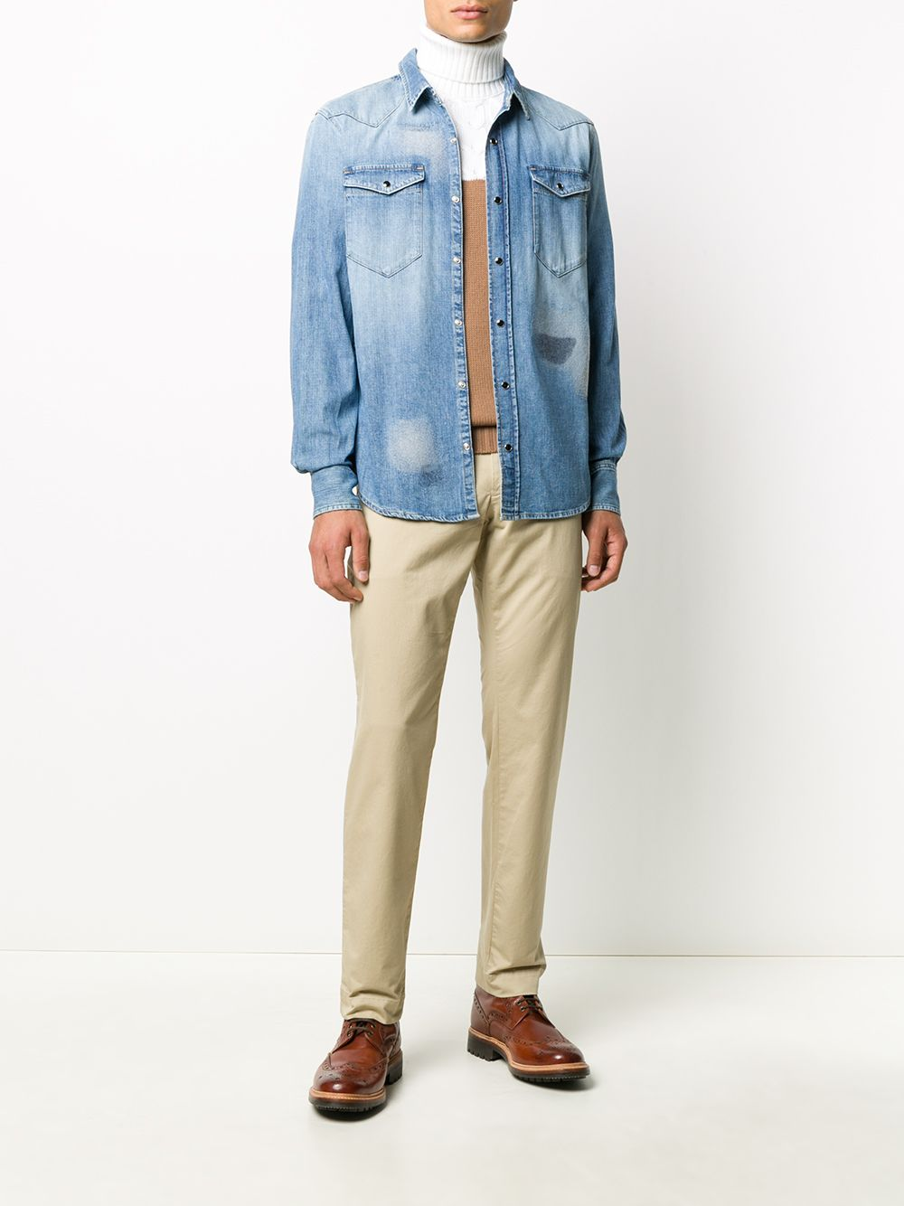 faded effect denim shirt  ELEVENTY |  | B75CAMB06-TET0B02608