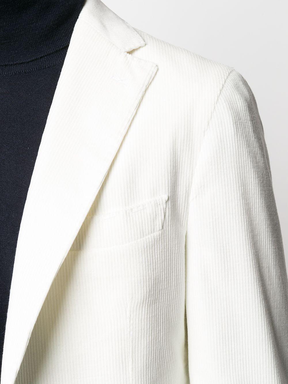 Blazer monopetto in misto cotone e cashmere avorio in velluto a coste ELEVENTY | Giacche | B75GIAA02-JAC2800100