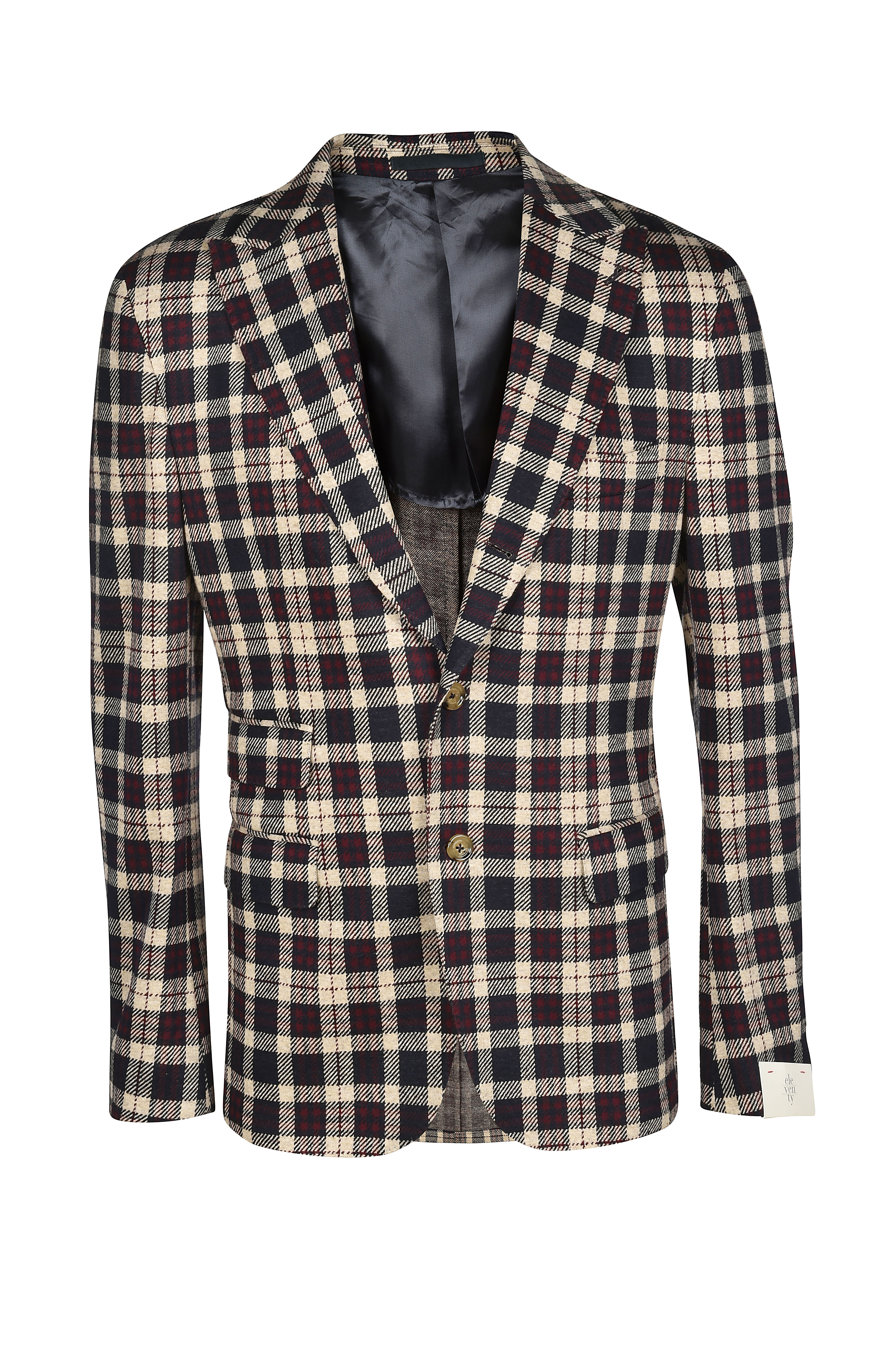 Checked wool and cotton jacket ELEVENTY |  | B75GIAB03-TES0B09110