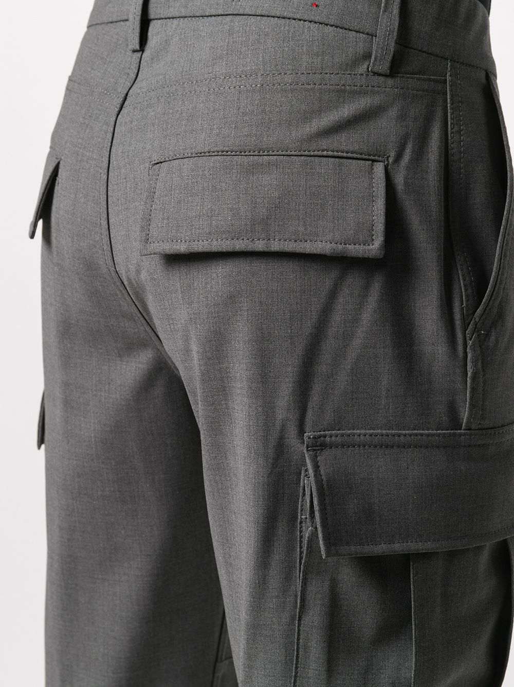 Medium grey wool blend wool-blend cargo trousers featuring slim fit ELEVENTY |  | B75PANA15-TES0B03614