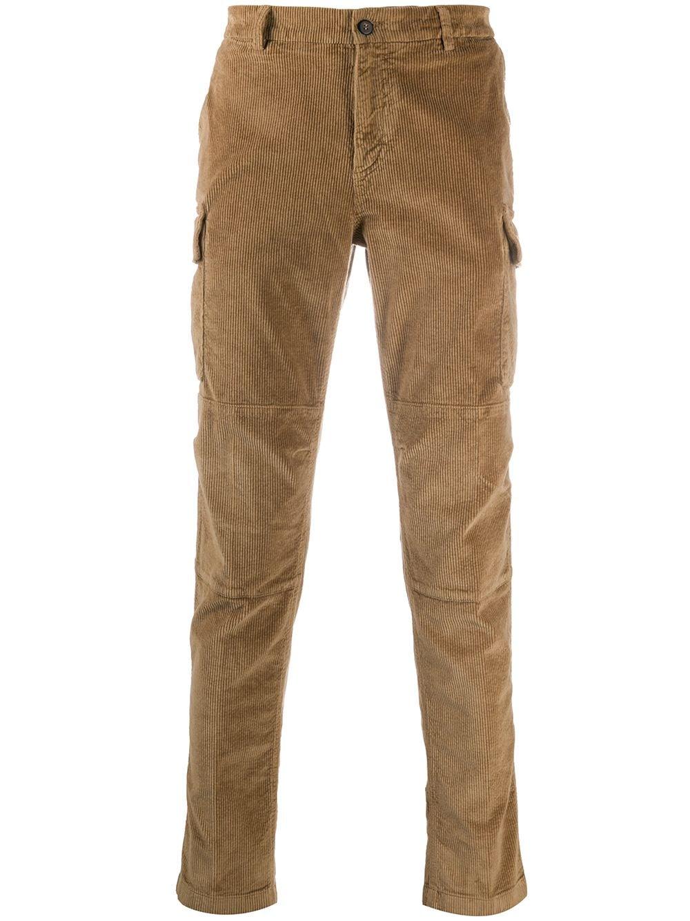 Pantaloni in misto cotone e velluto color cammello a coste ELEVENTY | Pantaloni | B75PANB03-TET0B00204