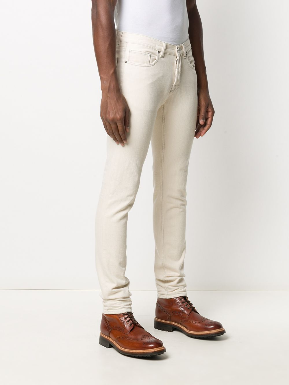 White 100% cotton straight-leg trousers  ELEVENTY |  | B75PANB11-TET0B02201