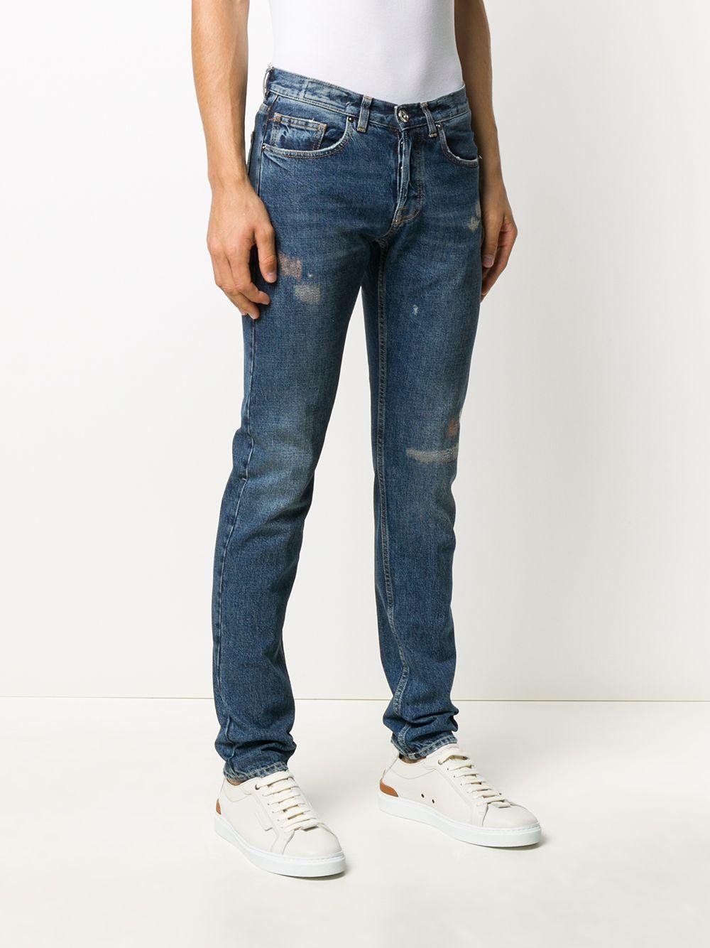 jeans slim fit effetto consumato ELEVENTY | Pantaloni | B75PANB16-TET0B02808