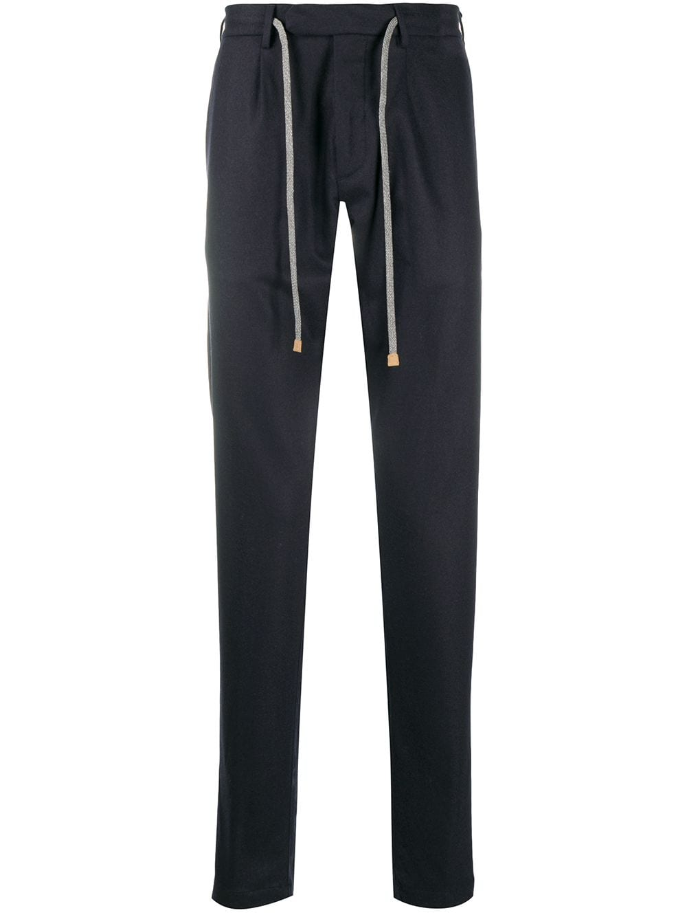 Blue cashmere-blend drawstring tailored trousers   ELEVENTY |  | B75PANB21-TES0B00611