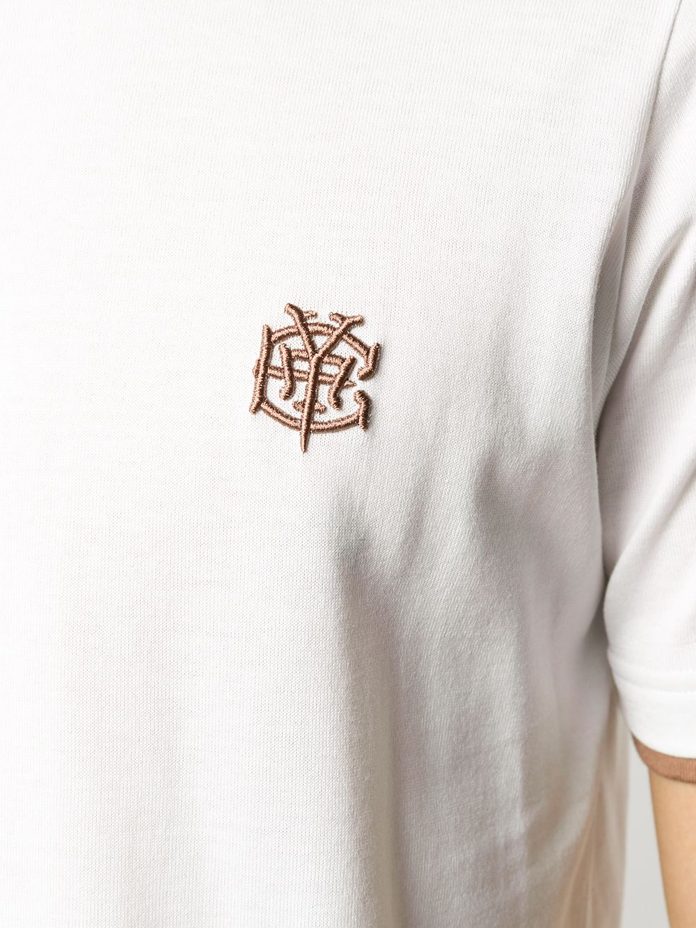 white cotton t.shirt with camel details ELEVENTY |  | B75TSHB07-TSH2600101