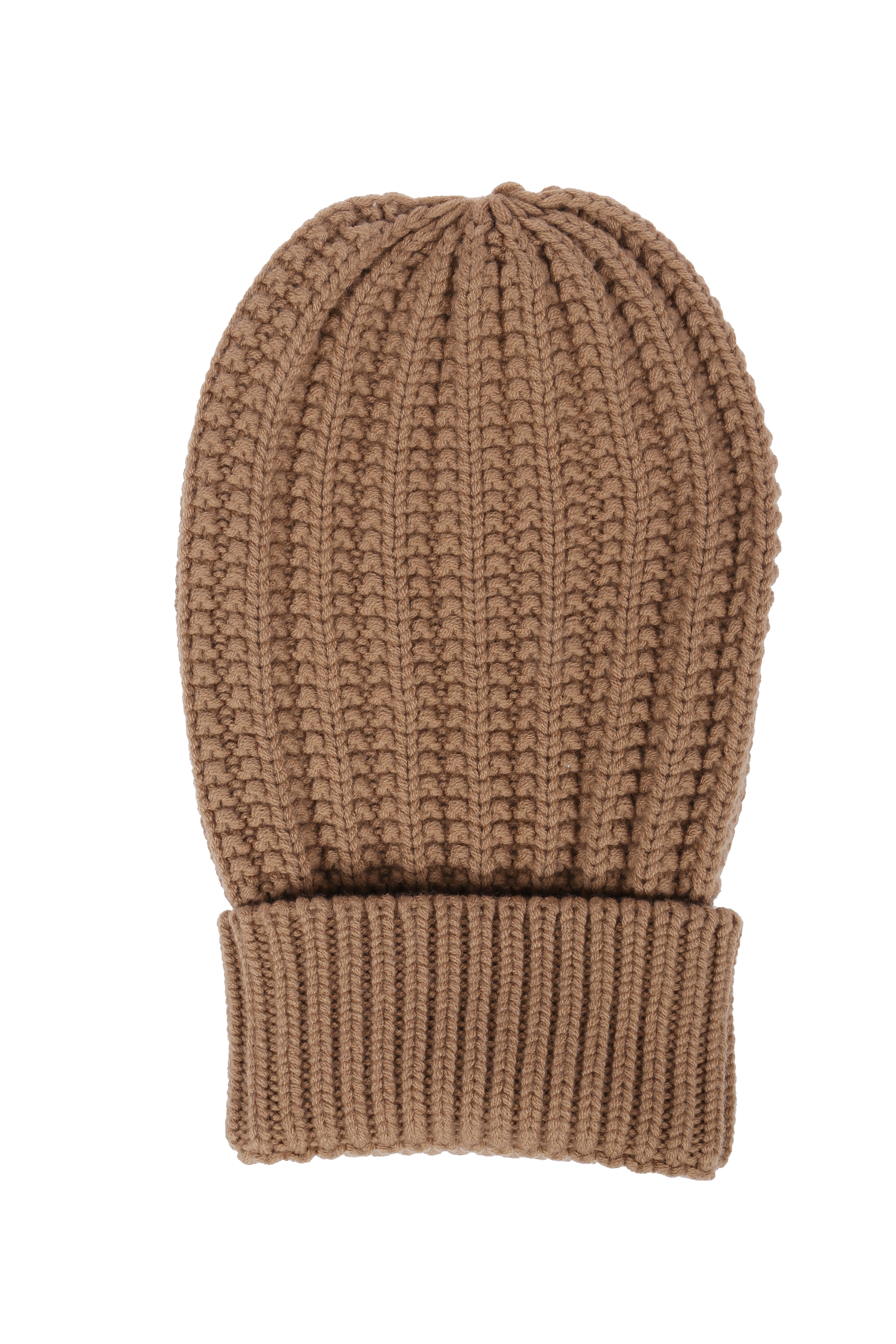 brown wool cable-knit beanie hat ELEVENTY |  | B76CLPB01-MAG0B00204