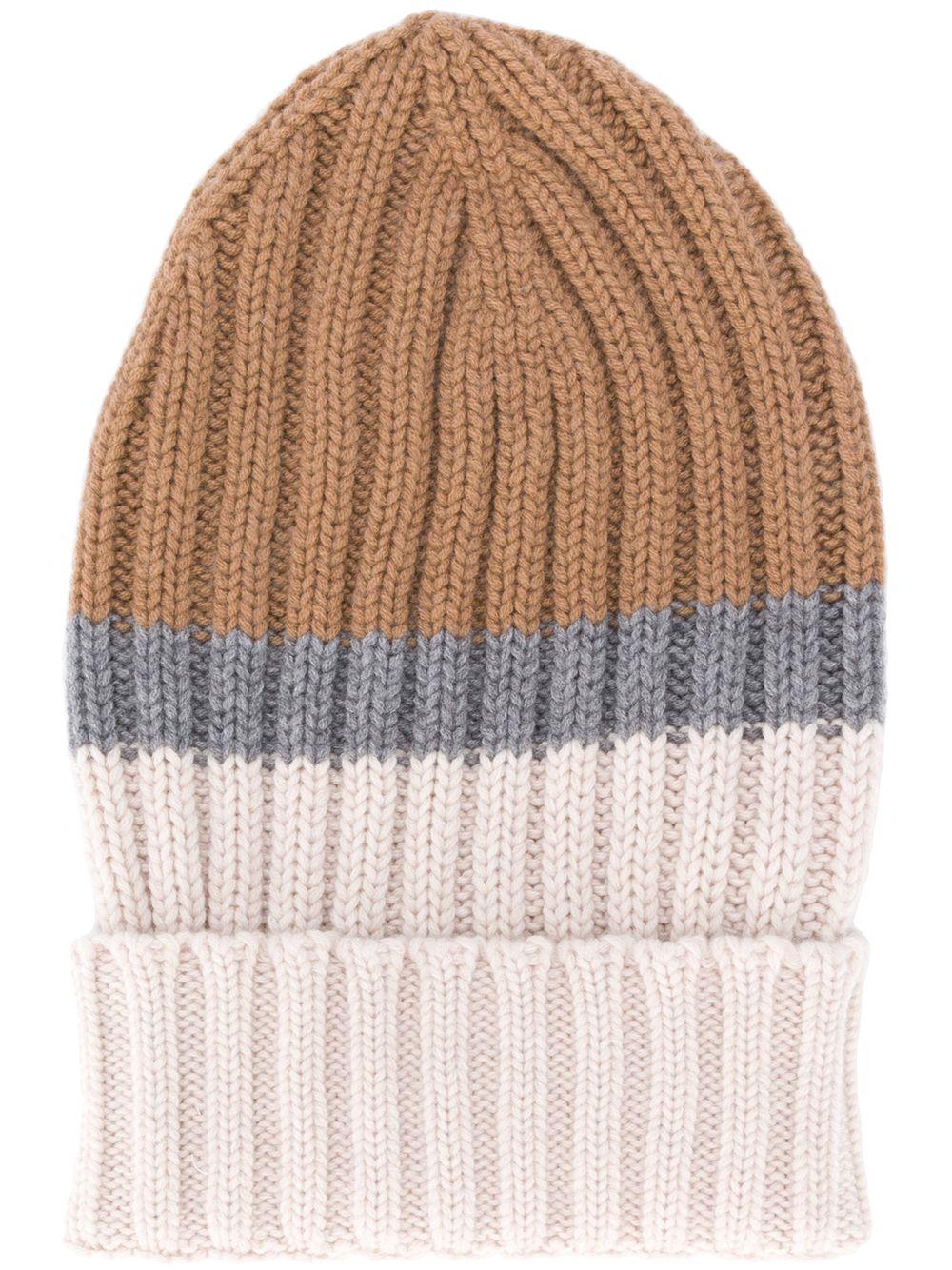 multicolored chuncky ribbed knit wool beanie hat ELEVENTY |  | B76CLPB02-MAG0B00504-14