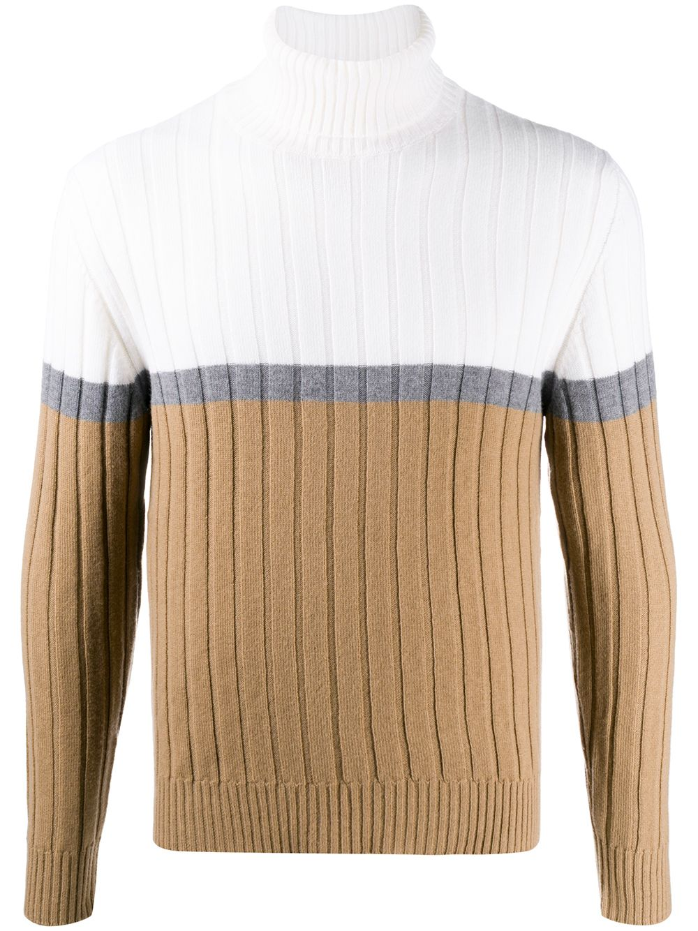 maglione a collo alto bianco beige in lana ELEVENTY | Maglieria Moda | B76MAGB15-MAG0B00501-14
