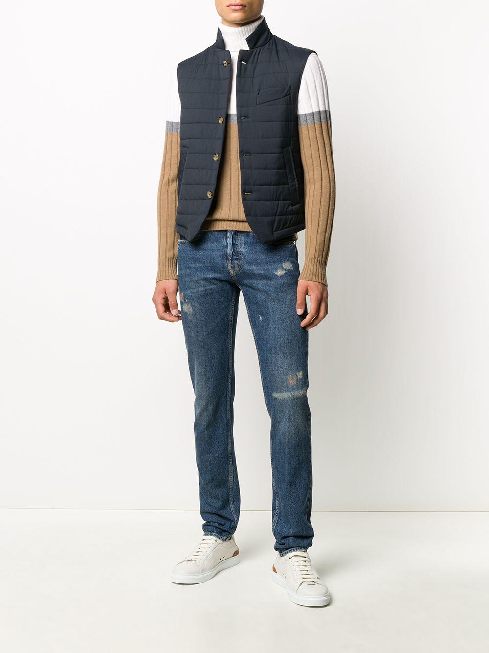 maglione a collo alto bianco beige in lana ELEVENTY   Maglieria Moda   B76MAGB15-MAG0B00501-14