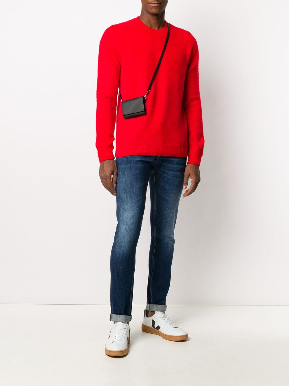 Red 100% wool long-sleeve knitted jumper  ELEVENTY |  | B76MAGB47-MAG0B06218
