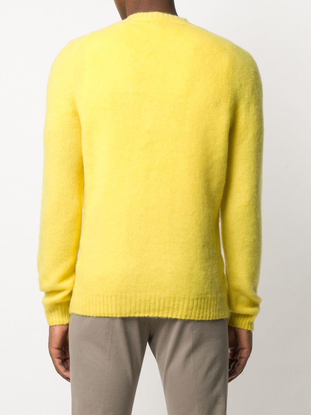 Lemon yellow wool textured crew-neck sweater  ELEVENTY |  | B76MAGB47-MAG0B06228