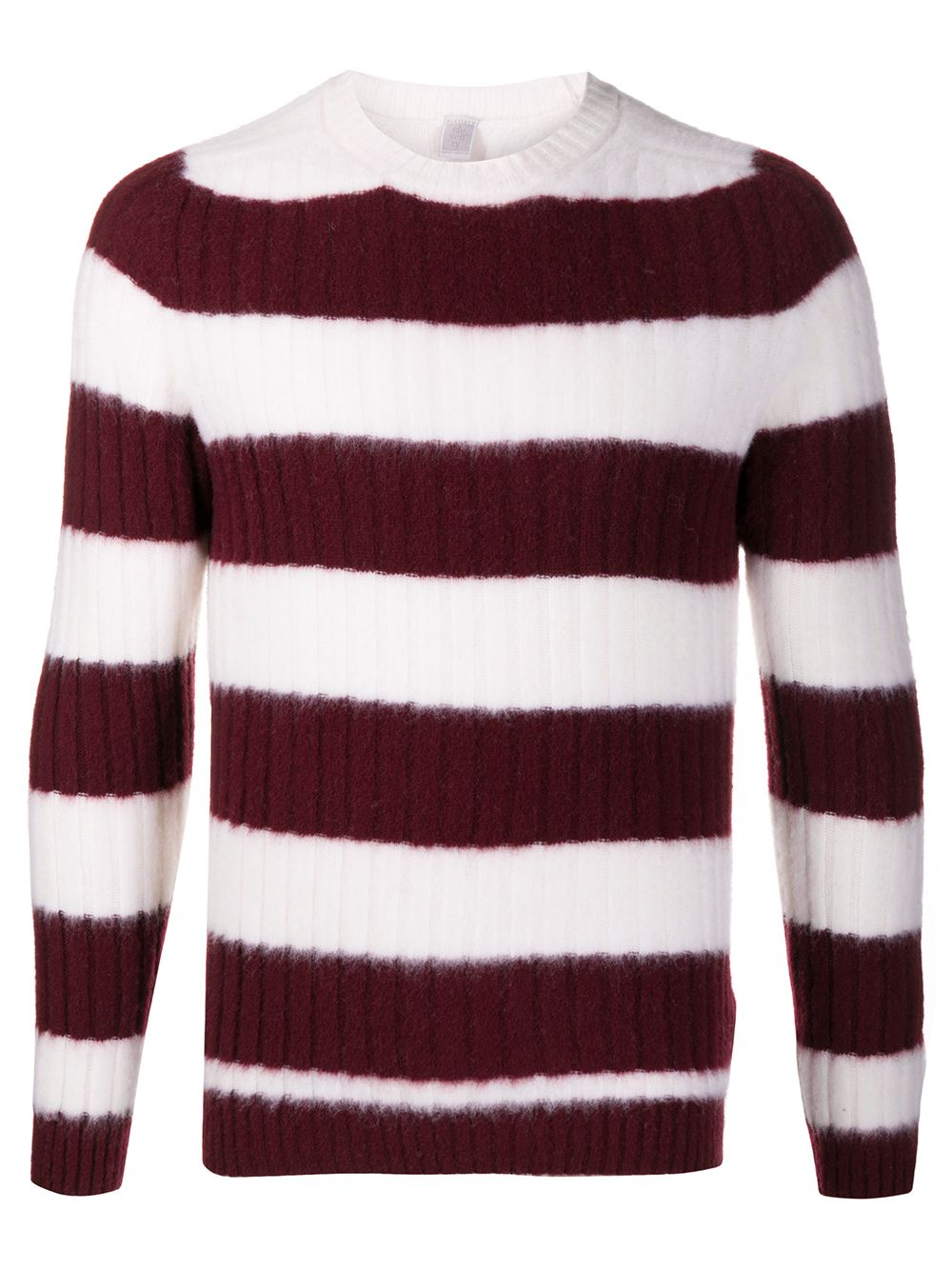 Bordeaux and white wool striped knit jumper   ELEVENTY |  | B76MAGB48-MAG0B06410-01