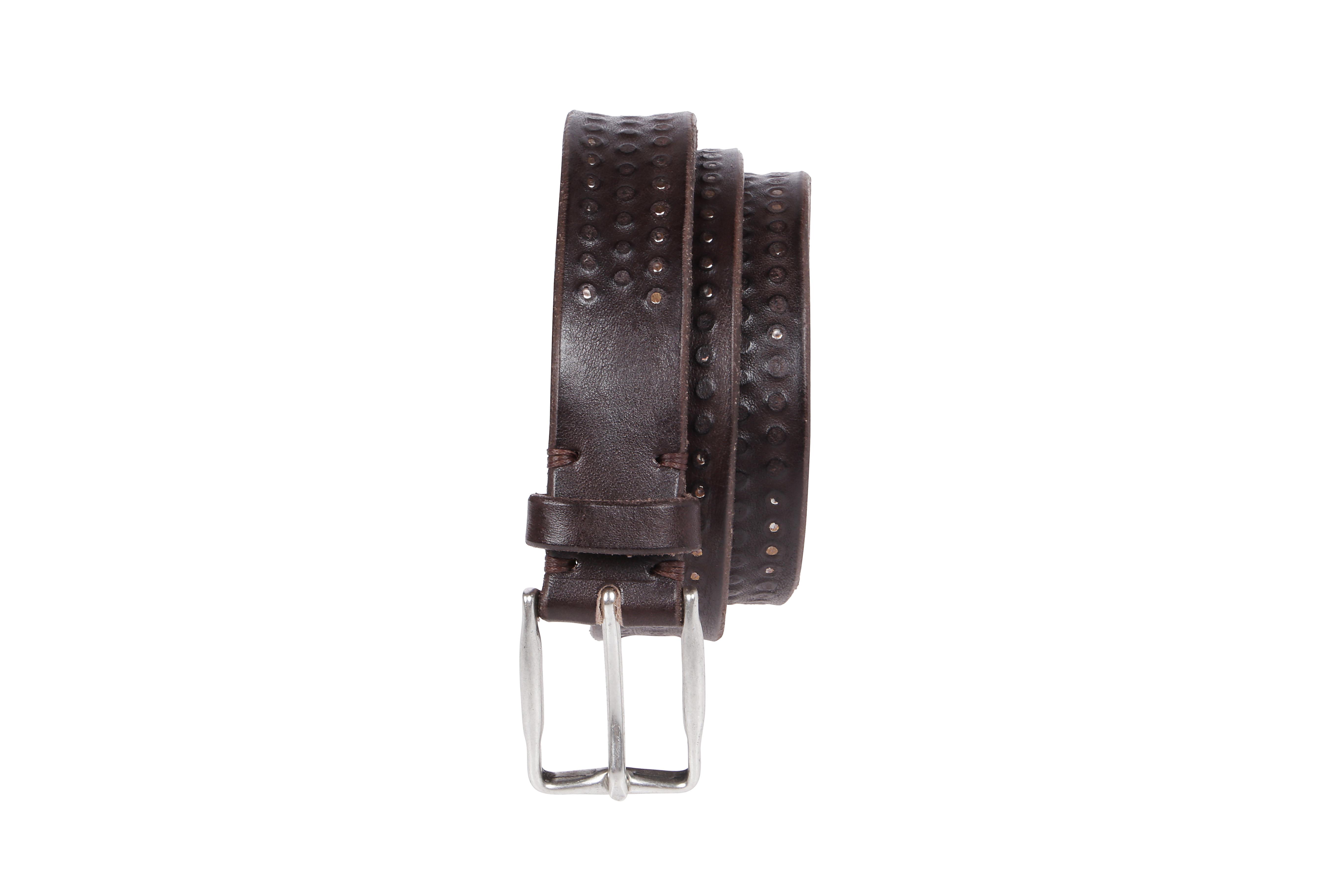 brown leather silver buckle belt ELEVENTY |  | B77CINB06-PEL0B01905