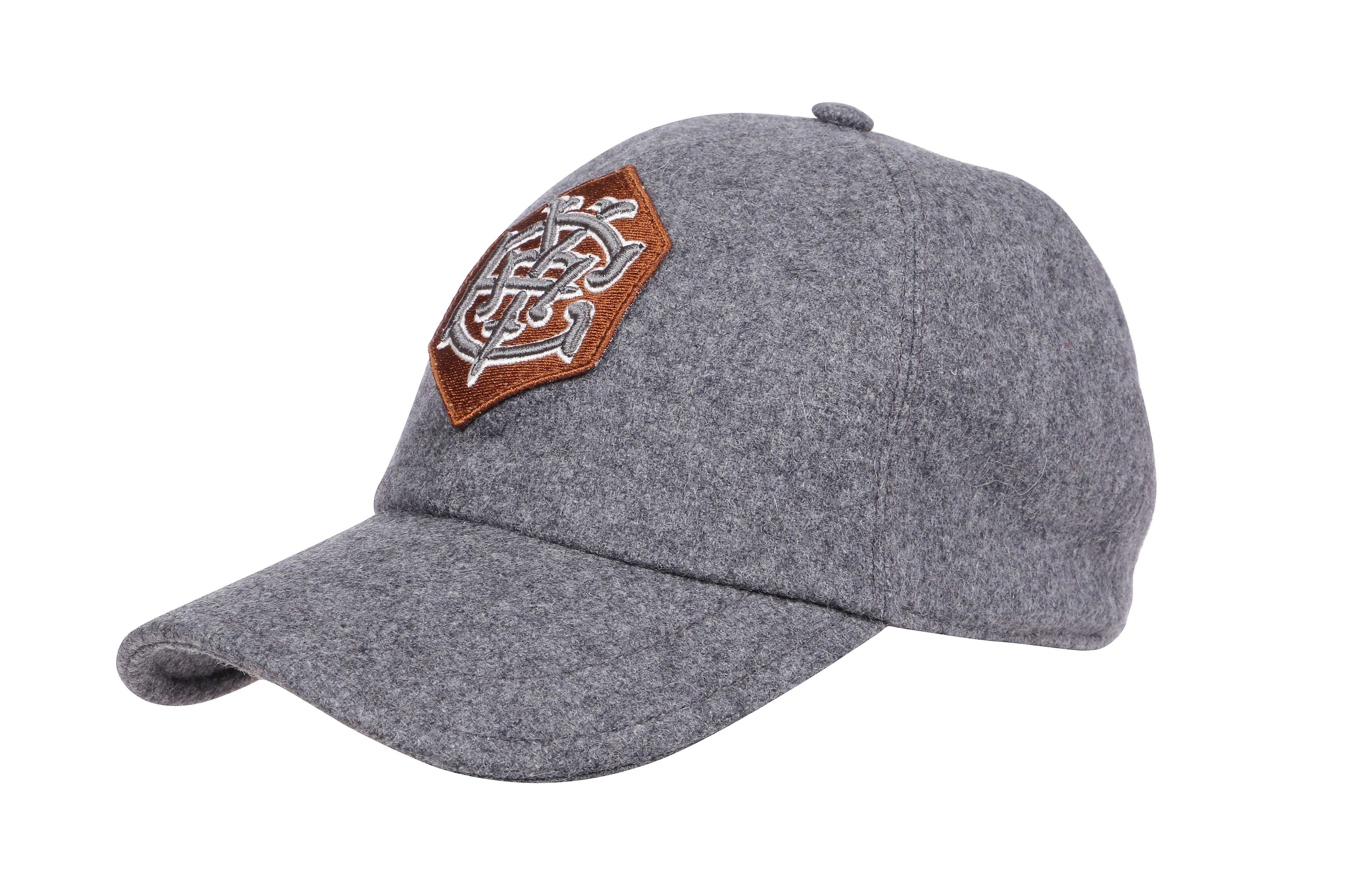 cappello da baseball in cotone effetto lana grigio chiaro ELEVENTY | Cappelli | B77CLPB02-TES0B13406
