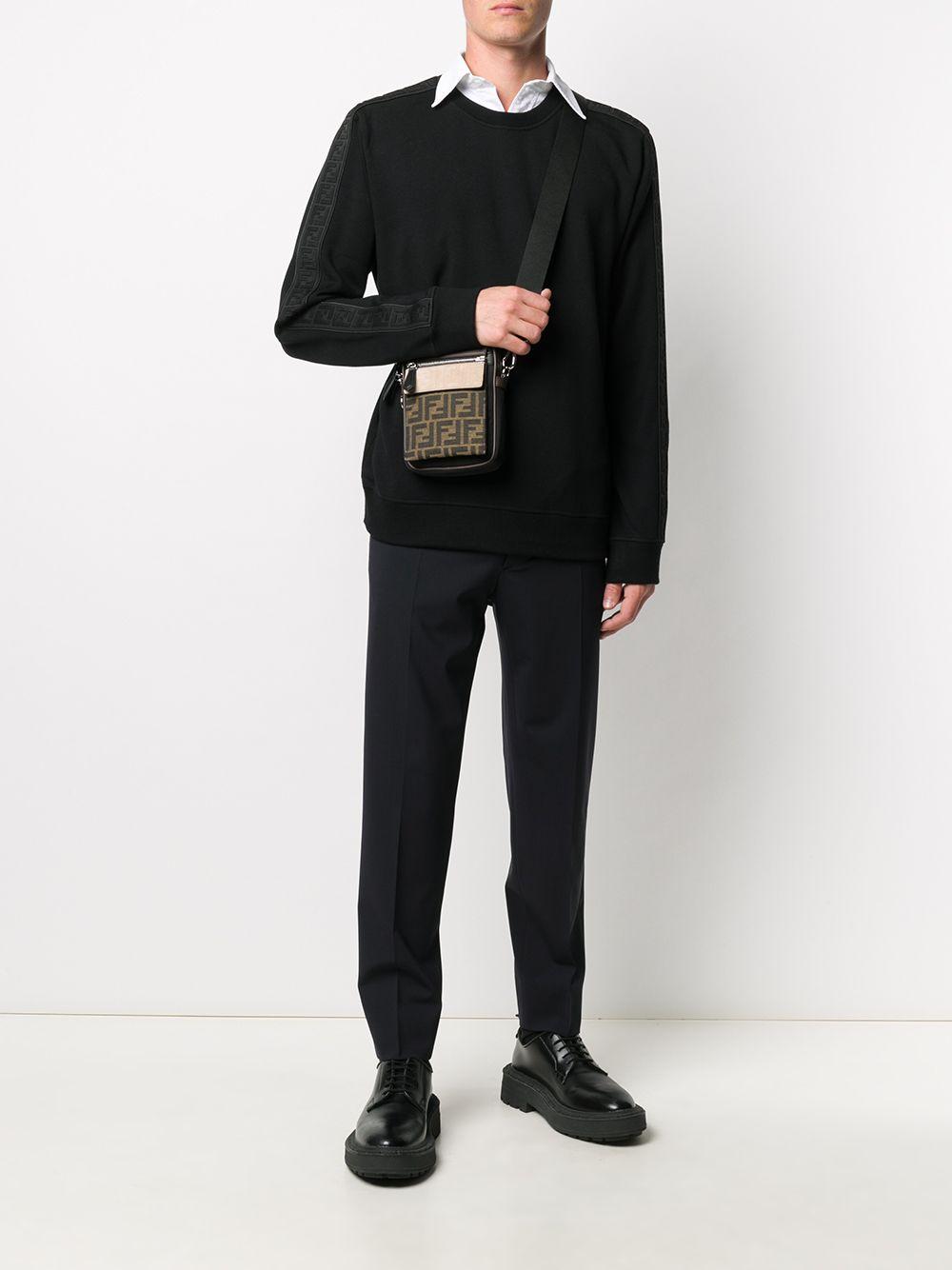 Black jumper featuring FF motif black side band  FENDI |  | FY0178-A2F1F0QA1