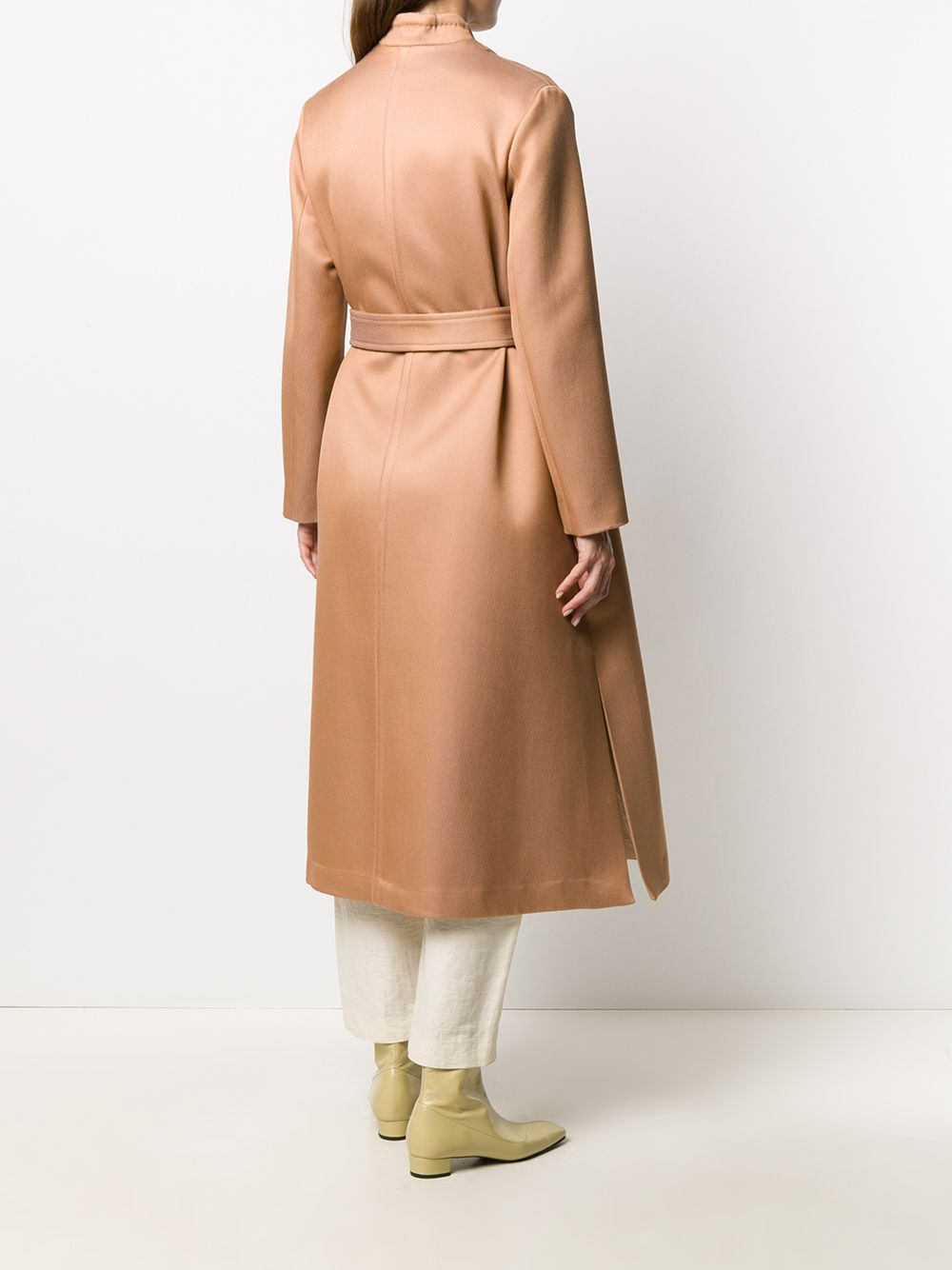 Cappotto a maniche lunghe in misto lana e cotone color cipria FORTE_FORTE   Cappotti   7504BLUSH
