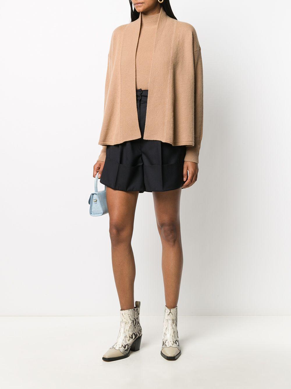 Beige virgin wool-cashmere blend open-front cardigan  FORTE_FORTE |  | 7626CAMMELLO