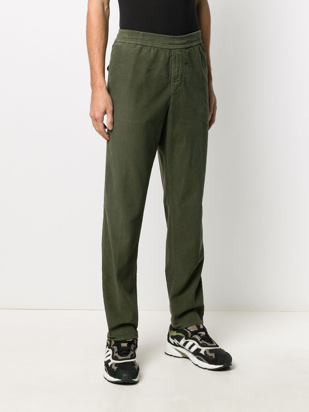 Dark green vertical ribbed velvet and cotton trousers  GOLDEN GOOSE |  | GMP00253-P00022735578