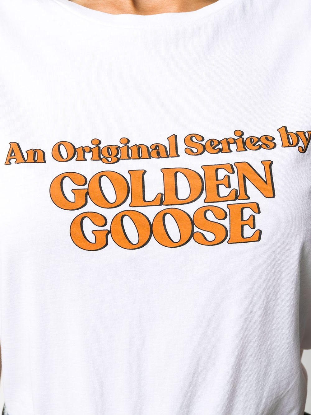 t.shirt in cotone bianco con lettering an original series by golden goose GGDB | T-shirt | GWP00476-P00018710272